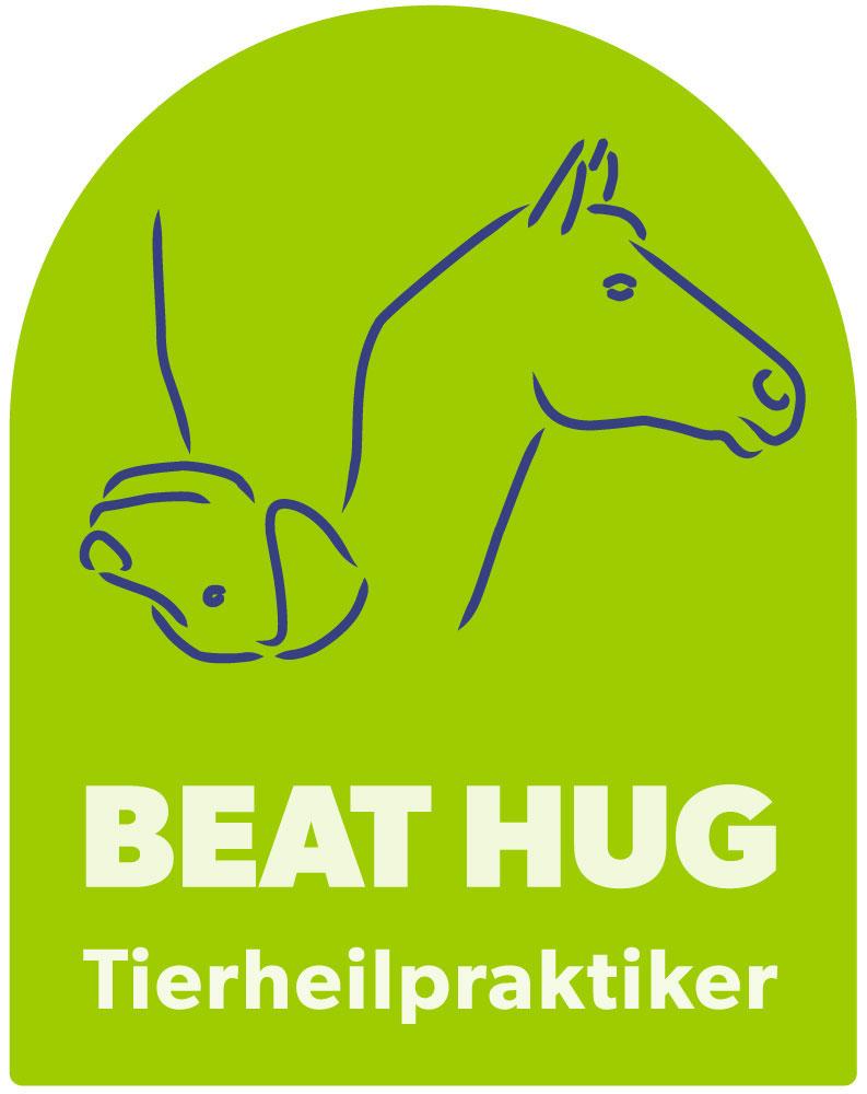 logo von NST-Tiertherapie und Tierheilpraktiker. zu sehen sind ein hund und ein pferd.