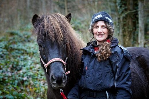 Sibylle Moser mit Pferd